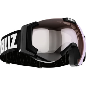 Bliz Carver Small Goggles, black-white/orange-silver mirror
